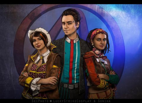 Fiona, Rhys, Sasha - Tales from the Borderlands by LuckyStrikeCosplay