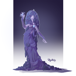 Violets are Blue Dryad #23 by Mythka