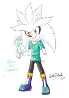 Werehog's Roommate: Silver the Zombie by GothNebula