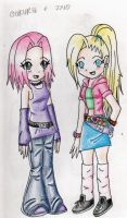 Ino and sakura by minamongoose
