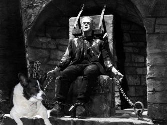 Edger Guards The Frankenstein Monster by RoyPrince