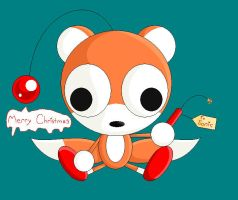 Merry Christmas Tails Doll by GirGrunny