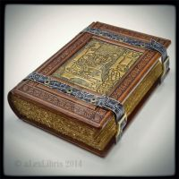 Large leather journal with old cookery detail... by alexlibris999