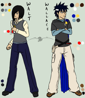 scribble colour ref - Walt n Wallace by Aisuryuu