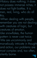 Quotes on humantiy. by counterXintelligence