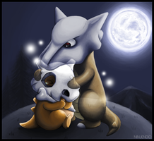 Cubone and Marowak by Ninjendo