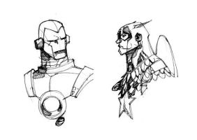IRON MAN and CAPTAIN AMERICA by EricCanete
