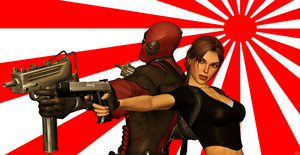 Lara And Deadpool ( PhotoScape Version !) by CyberBrian360