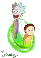 Rick and morty print by Blue-Sweet-tea