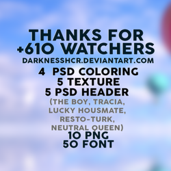 Thanks for +610 watchers by darknesshcr