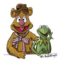 Fozzie and Kermit by kevinmule