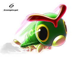 Caterpie's tackle by Gad by Dreamgate-Gad