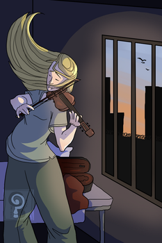 Sometime a Caged Bird Sings by curiousdoodler