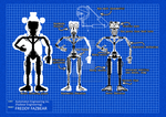 Freddy Fazbear Blueprint (with Endoskeleton)