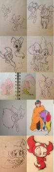 Akward Sketch Dump 2011-12 by CuteCatastrophe