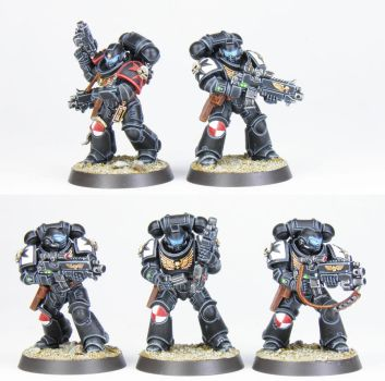 Black Templars Intercessor Squad II - Commission by PrincipeFenice