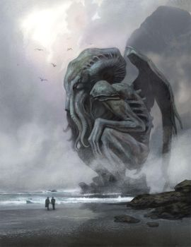 Cthulhu in the mist by NathanRosario