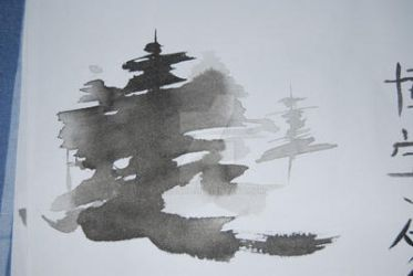 Sumie Trees in fog by xtolord