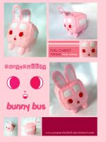 Bunny bus plush by paperdaldoll