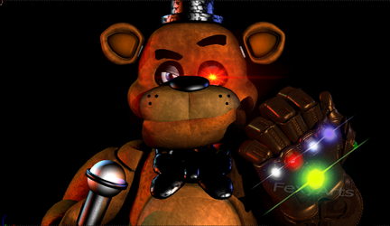 Blender - Freddy gets the Infinity Gauntlet! by Rosylina