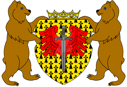 Crest for the King Aubert I. and the Capital