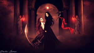 Hades and Persephone by CharllieeArts
