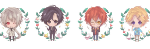 Mystic Messenger ( Charm Designs ) by ice-rii