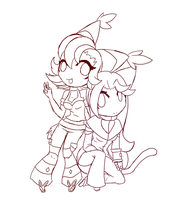 PCOMM::Chibi.TwoMaidens by Rayne-Is-Butts