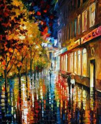 After The Holidays by Leonid Afremov by Leonidafremov