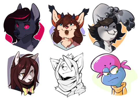 Headshots-pack by AidenMonster
