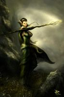 Nissa - Magic The Gathering by PierluigiAbbondanza