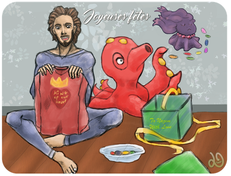 Leukos PokeRP - Secret Santa - Nazem and his team by lunahaya