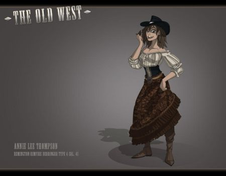 The Old West: The Widow by feuerkorn