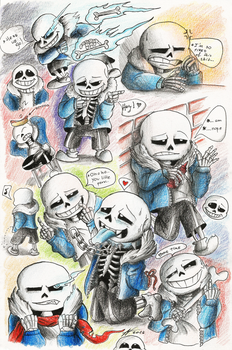 The Many Moods of Sans - doodles by Wojak1991