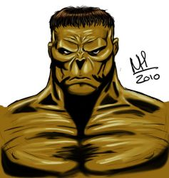 The Incredible Hulk portrait by nathanial91