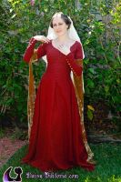 Red Linen Kirtle by DaisyViktoria