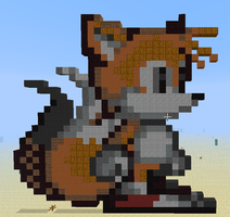 Tails Prower(Build on Minecraft) by Wrathofautumn