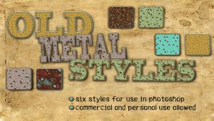 Old Metal Photoshop Styles by HGGraphicDesigns