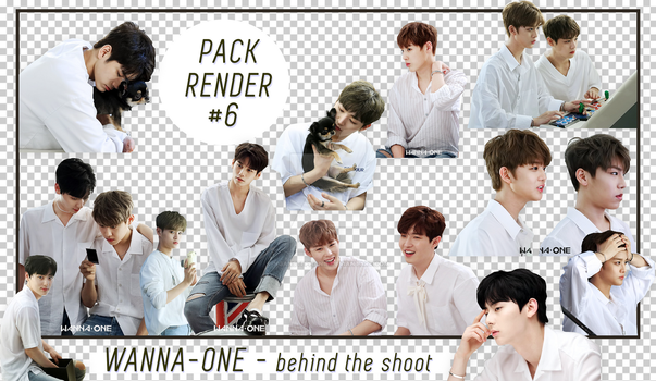 [10+ PNGs] - PACKRENDER 06 - WANNA ONE - BehindThe by nganstephanie