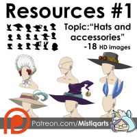 RESOURCES #1: Hats and head accessories  by Mistiqarts
