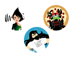Samurai Jack buttons by SubduedMoon