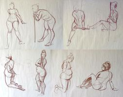 Life Drawing - March 2015 by Gizmoatwork