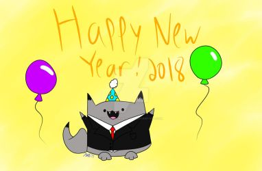 Happy New Year 2018 by That-Adorable-Cat