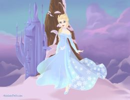 Elsa, Guardian of Love by psychic-pixie17