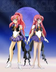 Sailor Lacus and Sailor Meer by TheSnowDrifter