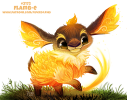 Daily Paint 2172. Flamb-e by Cryptid-Creations