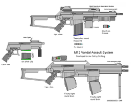 Modular Weapons System Rifle by scifibug