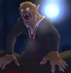 Saints row Halloween DAY 16: Wolfman Dane Vogel by petplayer976