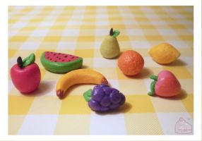 Miniature Fruits by Annortha