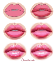 Glossy Lips - Step by step by SandraWinther